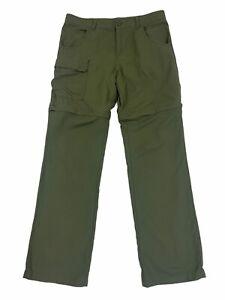 Columbia Youth Omni-Shade Convertible Pants Green 14-16 L Hiking Camping Shorts