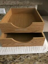 Wooden Paper Trays for desk office organizing, letter size