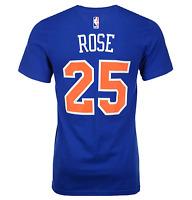New York Knicks Men's #25 'Derrick Rose' Player T-Shirt NBA adidas Blue
