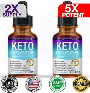 Keto Drops Diet Shred Burn Ketosis Weight Loss Supplements Fat Burn&Carb Blocker