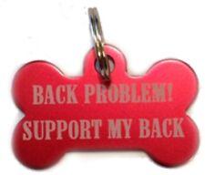 "Collar Tag ""Back Problem  Support My Back"" to Benefit Dodgerslist.com"