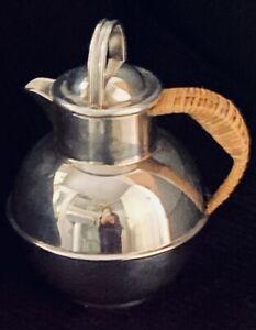 "Antique EGWS (E G WEBSTER & SON) Art Deco-Beautiful 6"" Silver Teapot 1920's USA"