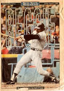 N.Y. Yankees Reggie Jackson Special edition NY Newsday August 1, 1993 Original