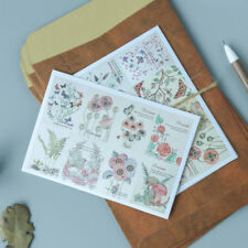 New 3pcs/lot Vintage Floral Notebook Diary Scrapbooking Album Stamp Stickers