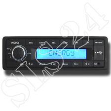 "Vdo tr711u-bu 12v radio avec rds usb mp3 Autoradio FM tuner ""sans CD"" LCD bleu"