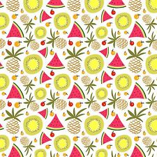 Printed Bow Fabric A4 Canvas Summer Water Melon Pineapples SM4 Make glitter bows