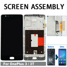 For Oneplus 3T 1+3T Digital LCD Screen Replacement Touch Digitizer Display Frame