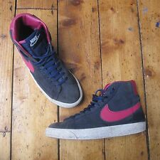Nike Blazer Blazers Mid Hi Top Suede Trainers Womens Girls Navy Blue Pink UK 3