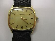 VINTAGE CONCORD 14K GOLD 17 JEWELS WATCH