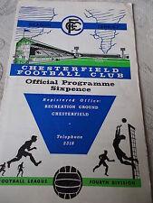 3.12.66 Chesterfield v Aldershot programme Division Four