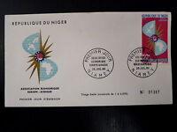 NIGER  AERIEN 62  PREMIER JOUR FDC    ASSOCIATION EUROPAFRIQUE     50F      1966