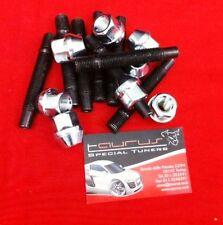 Kit 8 colonnette + dadi ruota M12x1.25 80mm Racing Fiat Alfa Romeo Lancia Ch 17