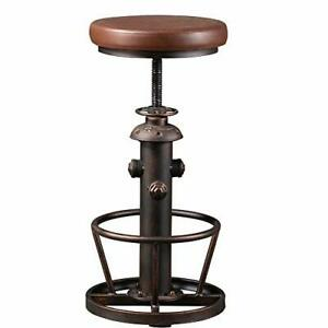 BOKKOLIK Vintage Swivel Bar Stools-Industrial Counter Height Chairs-Kitchen