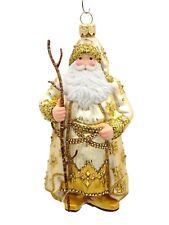 Patricia Breen Merijn Claus Gold Santa Jeweled Christmas Holiday Ornament