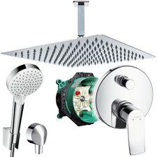 Unterputz Duschsystem mit Kopfbrause 300 x 300, Hansgrohe Metris Deckenanschluss