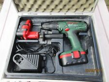 BOSCH X-CEL PSB18 Cordless Drill / Driver in carry case & 2 batteries (works OK)