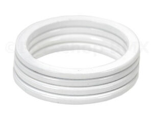 """Bicycle BMX or MTB headset spacers for 1 1/8"""" threadless (SET of 4) 2mm - WHITE"""