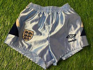 ENGLAND NATIONAL TEAM 1990/1992 FOOTBALL SHORTS THIRD UMBRO ORIGINAL YOUNG S