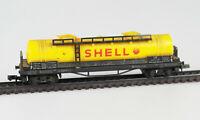 ARNOLD N 0421 Kesselwagen 4-achsig SHELL, 509 021, DB, Epoche III, gealtert