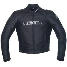 Richa Black Leather jacket - Sniper Leather motorcycle/motorbike jacket £100 Off