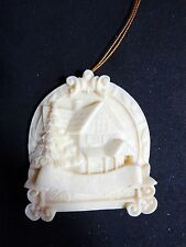 "Christmas Ornament Fill Our House With Love 3"" Cream Resin 1995 Roman"