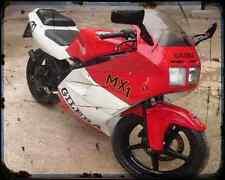 GILERA MX 1 125 89 1 A4 Foto Impresión moto antigua añejada De