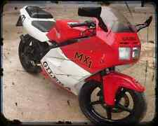 Gilera Mx 1 125 89 1 A4 Photo Print Motorbike Vintage Aged