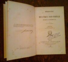 J.V.PONCELET - INTRODUCTION A LA MECANIQUE INDUSTRIELLE ,1870 ,IN FRANCESE
