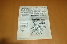 BATMAN AND ROBIN (SERIAL) 1949 RARE SHOWMAN'S MANUAL