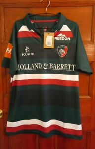 Leicester Tigers Kukri Rugby Shirt Size L Bnwt