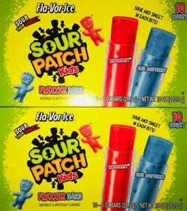 2 Boxes Sour Patch Kids FREEZER BARS(20 Bars Total !) ~ FAST FREE SHIPPING !