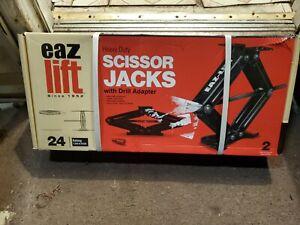"""Camper Travel Trailer Stabilizer 7,500Lb 24"""" RV Set of 2 Leveling Scissor Jacks"""