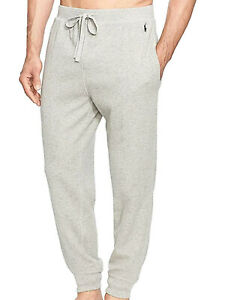 Polo Ralph Lauren Midweight Waffle Solid Jogger Pants Andover Heather/Navy-Med
