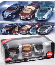 Siku Super 6213 00702 Bugatti-Set 3, Limited Edition Irlanda & Nuova Zelanda circa 1:55