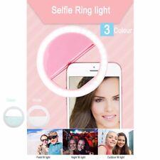 Selfie Lumière DEL Anneau Flash Fill Clip Caméra Pour Téléphone & Tablette Phone