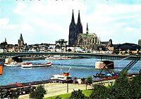 Köln , Dom und Rhein, Ansichtskarte, ungelaufen