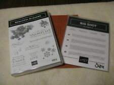 Stampin Up Beautiful Blizzard Stamp Set With Blizzard Thinlits Dies New