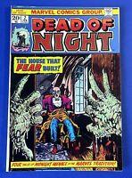 DEAD OF NIGHT #2 COMIC BOOK ~ 1973 MARVEL BRONZE AGE ~ FN+
