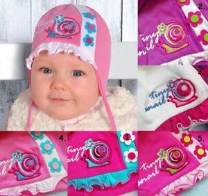 Baumwolle Baby Mädchen Mütze Frühling Größe 6 - 24 Monate Mädchen Binden Kids Cap NEU