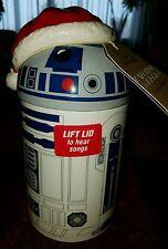 Hallmark Caroling R2D2 Christmas Treat Jar with Sound Star Wars