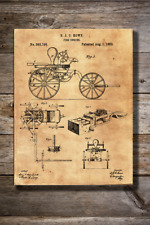 Vintage Reproduction Canvas Print of 1882 Fire Engine Patent