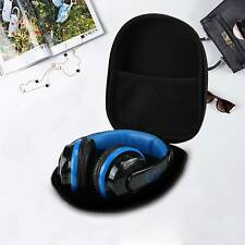 More details for black portable large eva headset earphone hard case storage pouch box bags