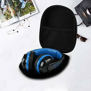 Black Portable Large EVA Headset Earphone Hard Case Storage Pouch Box Bags