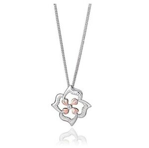 NEW Official Welsh Clogau Silver & Rose Gold Tree of Life Flower Pendant £80 OFF