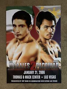 Manny Pacquiao vs Erik Morales 2 Official/Original Rare On-Site Poster 2006