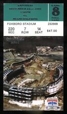 Dec 22nd, 2001 New England Patriots Vs Dolphins Ticket Stub Last Game at Foxboro