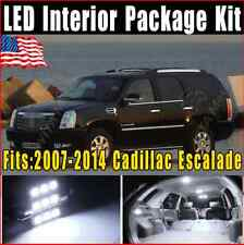 18X Pure White LED Light Interior Package Kit 2007-2014 For Cadillac Escalade