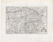 BAVARIA Ducatus-Baviera-rame mappa-MAP Merian 1638