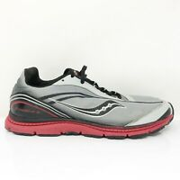 Saucony Boys Kinvara 2 SY40136A Black Gray Running Shoes Lace Up Low Top Size 7M