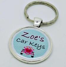 Personalised Keyring Custom Name Car Key Ring BFF Gift Learner Driver Keyring